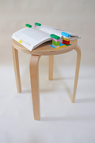 The Temporary Reading Stool, transformation of an ikea stool into a book reading stand | Miguel Costa | Micro Atelier de Arquitectura e Arte