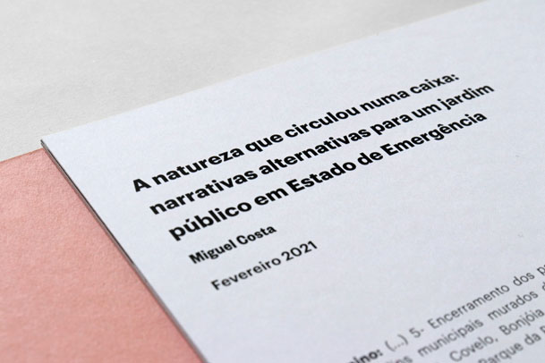 The nature that circulated in a case: alternative narratives for a garden in State of Emergency